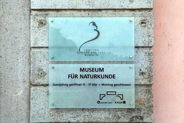 Het Naturkundemuseum van Schloss Benrath