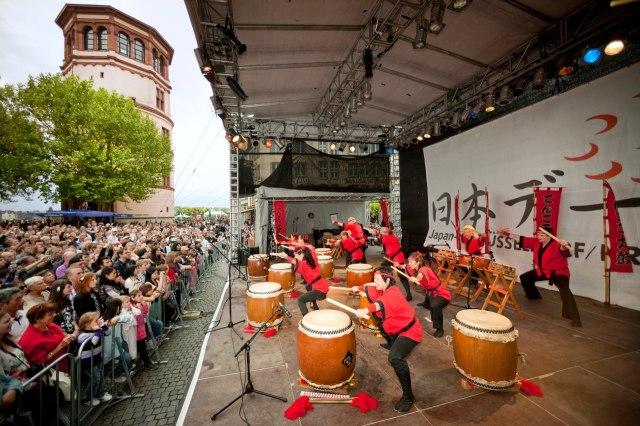 Een voorstelling tijdens Japandag