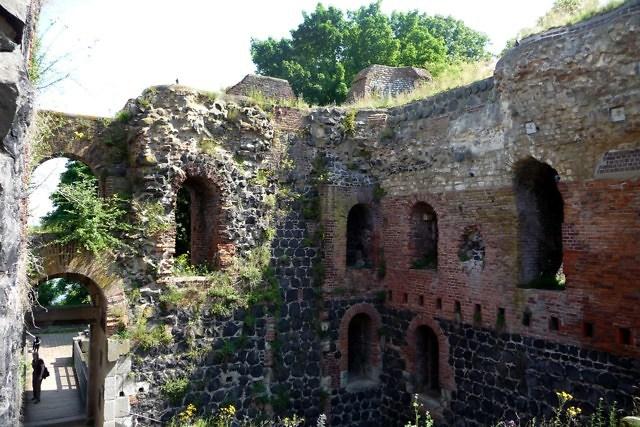Bewaard gebleven delen van het kasteel