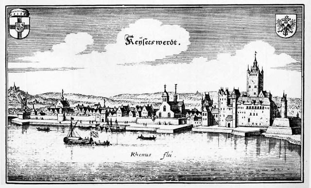 Kaiserswerth en Kaiserpfalz in 1646