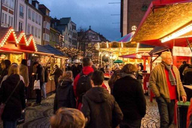 Op de kerstmarkt van Düsseldorf