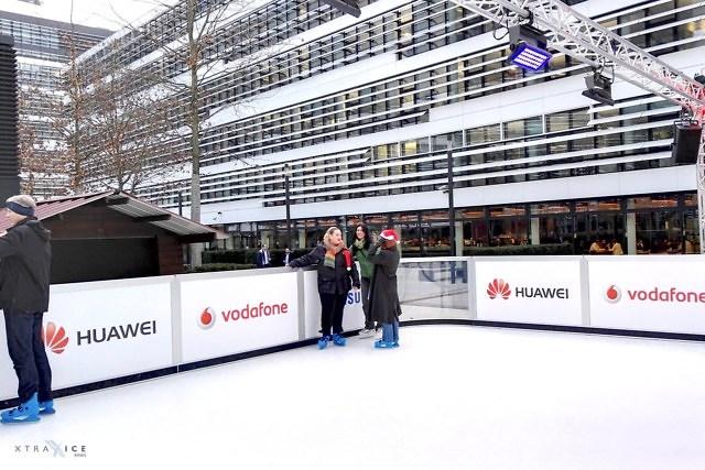 De ijsbaan op de Jan-Wellem-Platz