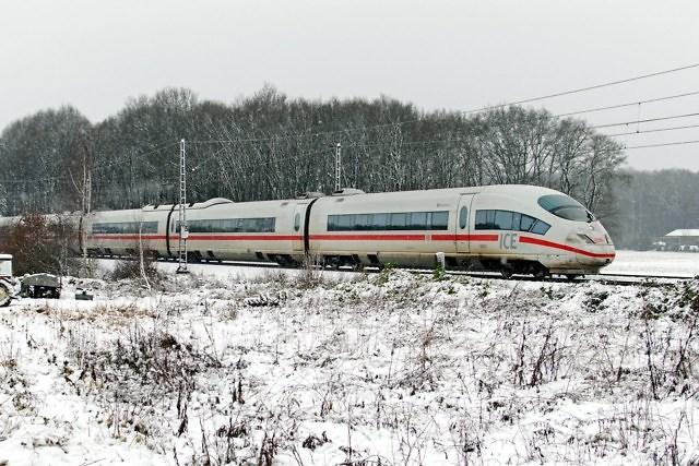 Met de ICE onderweg naar Düsseldorf