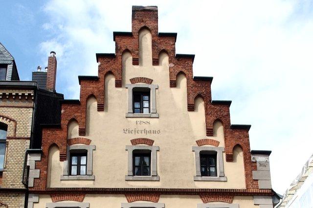 De trapgevel van het Löwenhaus