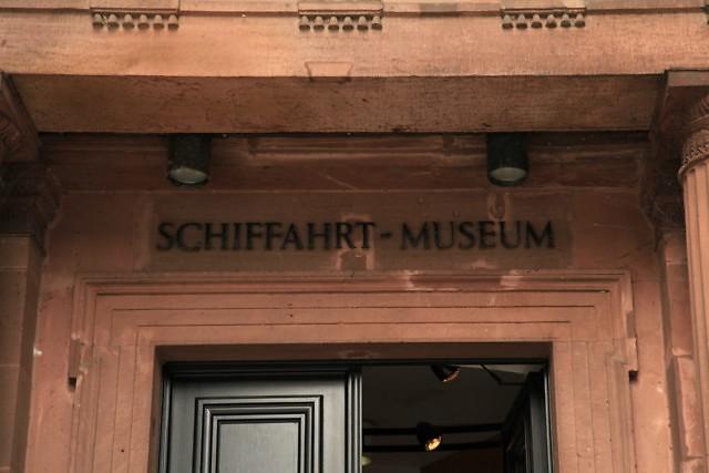 Ingang van het SchifffahrtMuseum van Düsseldorf