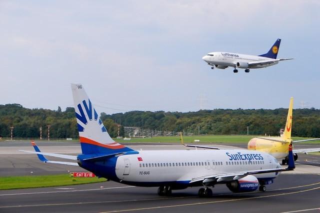 Het vliegveld van Düsseldorf